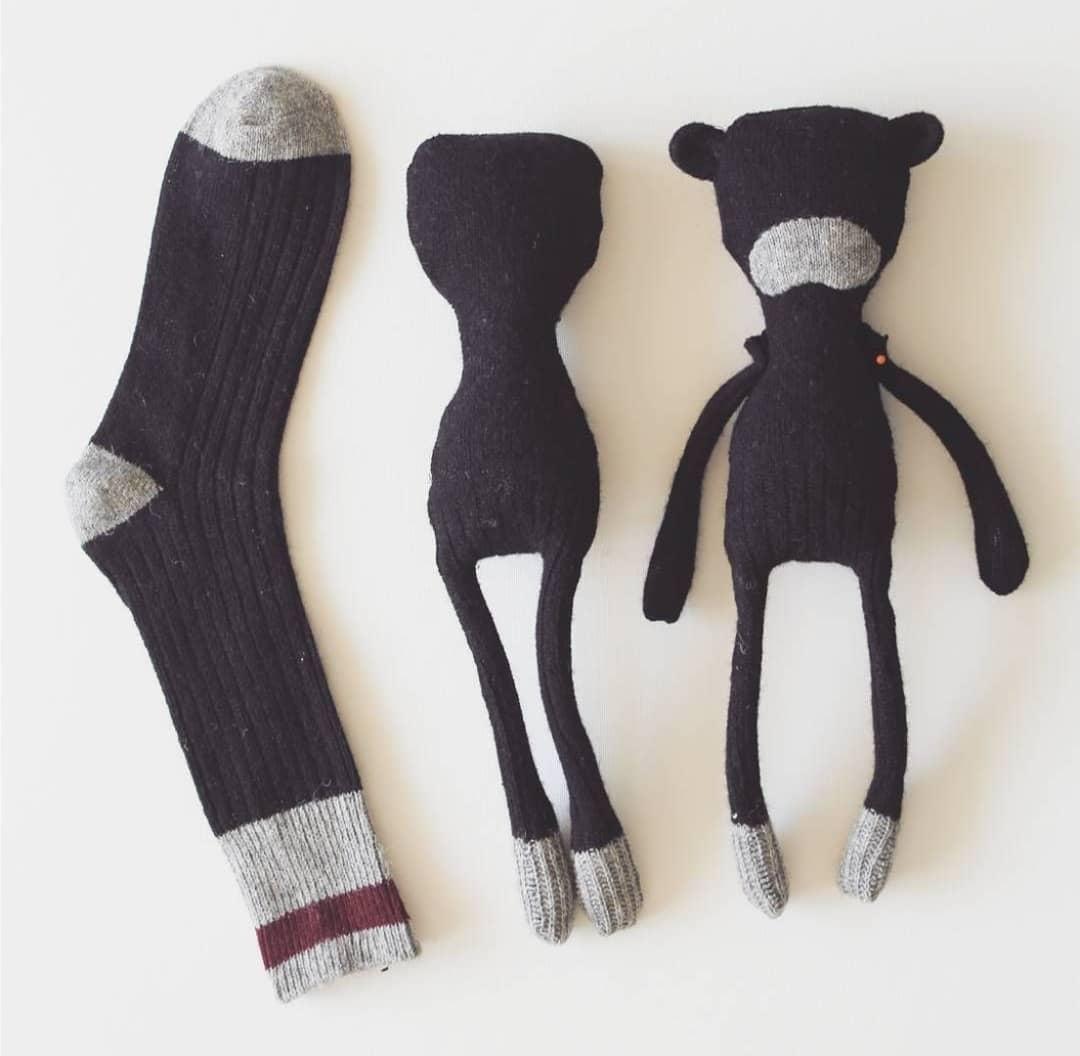 الگوی عروسک سازی با جوراب
