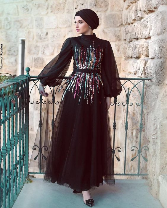 مدل لباس مجلسی زنانه پوشیده
