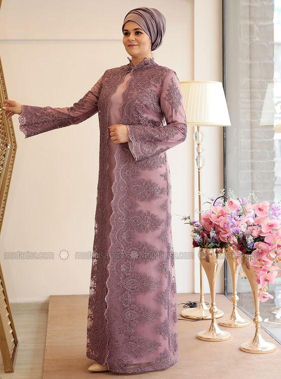 مدل لباس مجلسی بلند برای افراد چاق