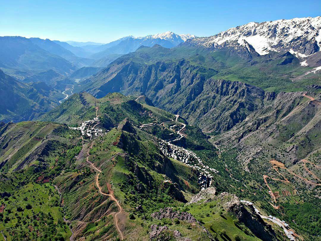 منطقه اورامان تخت از بالای کوه