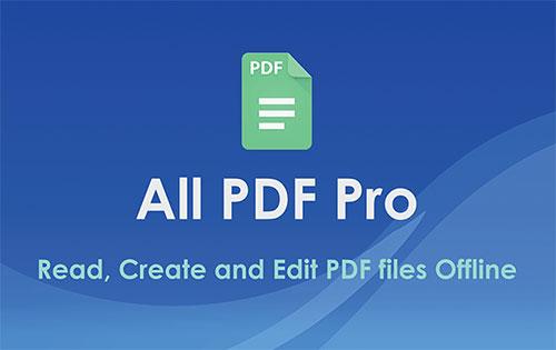 اپلیکیشن ویرایش و اجرای فایل های پی دی اف All PDF Reader Pro 2.6.1