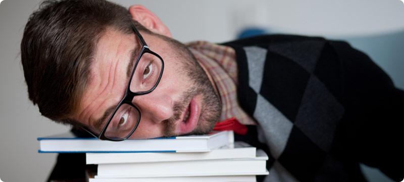 خواب الودگی در زمان مطالعه