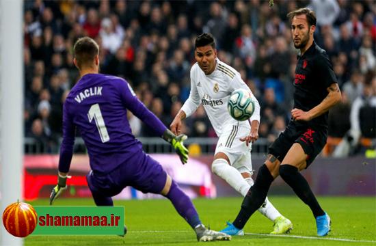 خلاصه بازی رئال مادرید ۲-۱ سویا,دانلود خلاصه بازی رئال سویا شنبه 28 دی,رئال سویا 2-1 شنبه 28 دی 98