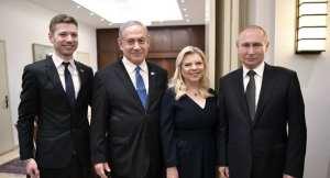 پوتين همراه خانواده نتانياهو عکس گرفت