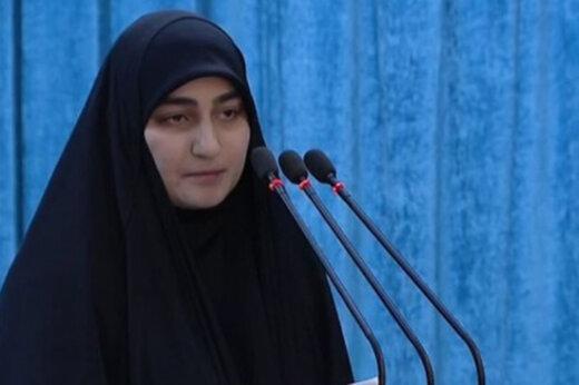 دختر شهید سلیمانی : دشمنان نمیخواهند جوانان ما جسور باشند