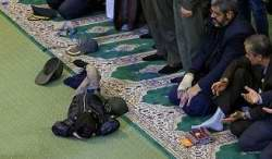 خوابيدن در نماز جمعه تهران