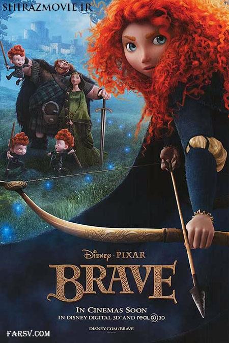 دانلود انیمیشن شجاع با دوبله فارسی Brave 2012