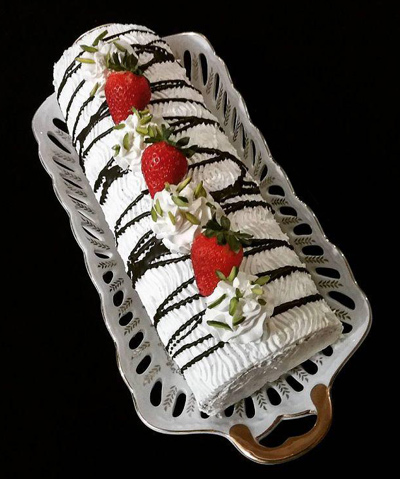 طرز تهیه رولت خامه ای بدون فر،طرز تهیه کیک خامه ای بدون فر