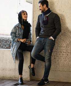 شاهرخ استخري با همسرش در قديم تر ها