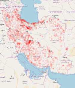مناطق پر خطر کرونايي در ايران را بشناسيد
