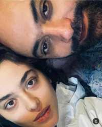 عکس دونفري ريحانه پارسا با همسرش