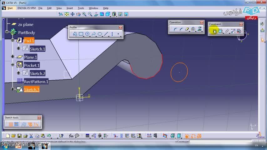 طراحی لولا با محیط Assembly Design در CATIA