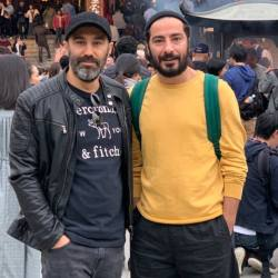عکس دونفره نقي معمولي و نويد محمدزاده در خارج