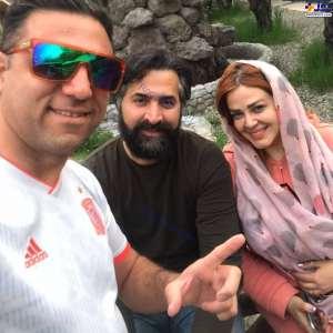 عکس بهاره رهنما در کنار همسر
