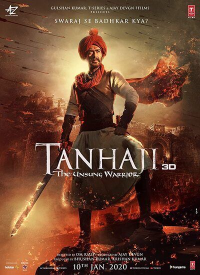 دانلود رایگان فیلم تانهاجی دوبله فارسی Tanhaji: The Unsung Warrior 2020