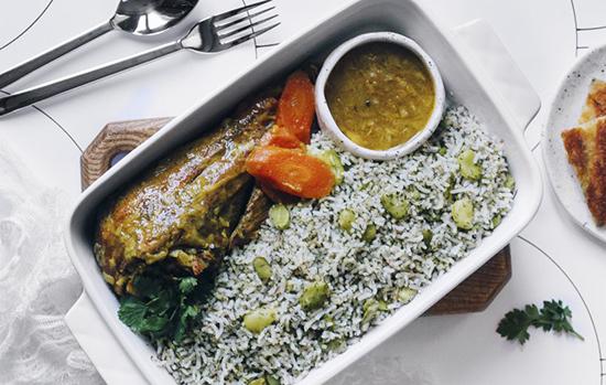 طرز تهیهی باقالی پلو با ران بوقلمون؛ غذای مجلسی ایرانی