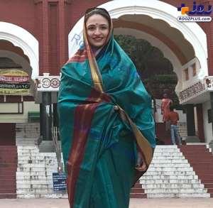 گلاره عباسي در لباس هندي