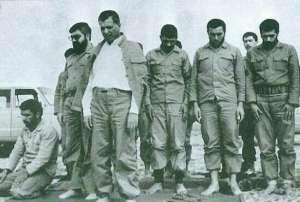 هاشمي و روحاني با لباس نظامي