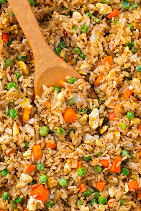 طرز تهیه برنج سرخ کرده چینی؛ پر فیبر و پروتئین