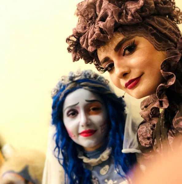 عکس گریم و آرایش غلیظ لیندا کیانی