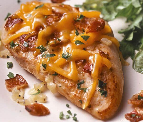 غذای ساده مرغ پنیری