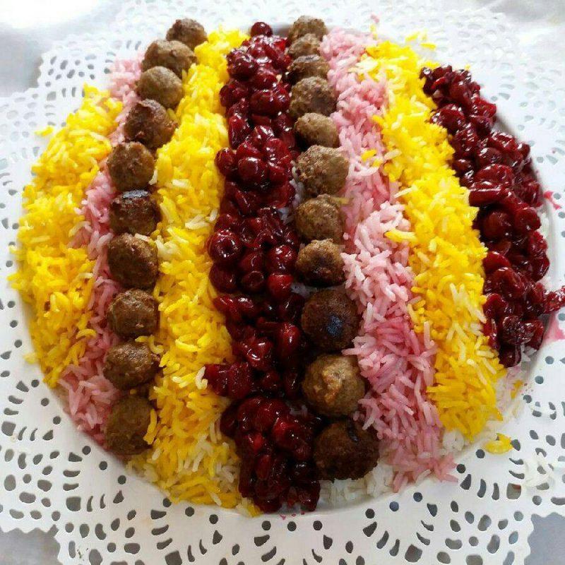 طرز تهیه آلبالو پلو شیرازی