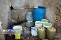 مردم روستاي رستمي با آب کولر صورتشان را مي شويند