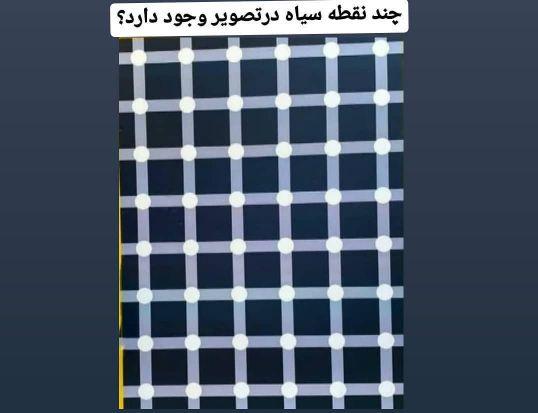 معمای چند نقطه سیاه در تصویر هست؟