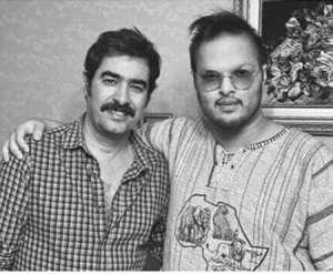 شهاب حسيني بازيگر سينما در کنار پسرش