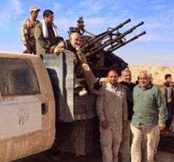 حاج قاسم در جبهه جنگ با داعش