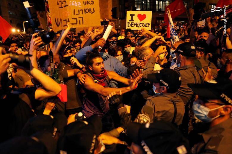 تصاویر جدید از ادامه سرکوب معترضان نتانیاهو