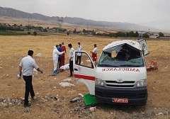 آمبولانس حامل بيماران کرونايي واژگون شد