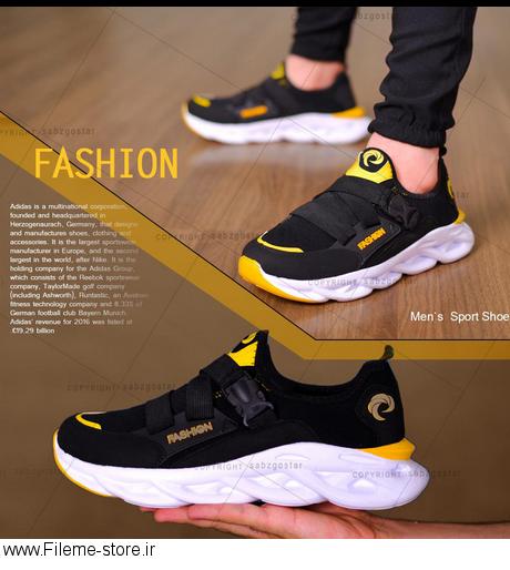 کفش مردانه مدل Fashion (مشکی،زرد)