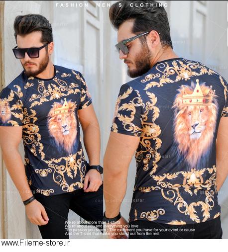 تیشرت مردانه مدل King Lion