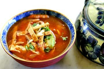 طرز تهیه ی سوپ تورتیلا