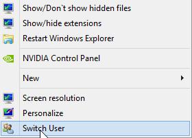 اضافه کردن Switch User به کلیک راست ویندوز 7 و 8