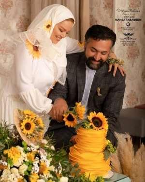 سالگرد ازدواج بهاره رهنما با گلهاي آفتاب گردان