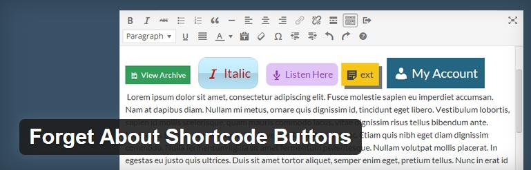 افزونه دکمه دانلود وردپرس Forget About Shortcode Buttons