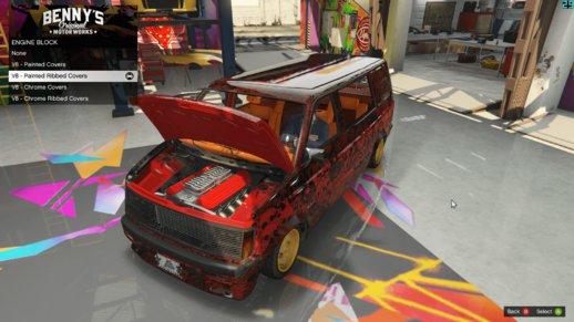 گاراژ حرفه ای برای GTA V | Benny's Motorworks SP 1.8.1