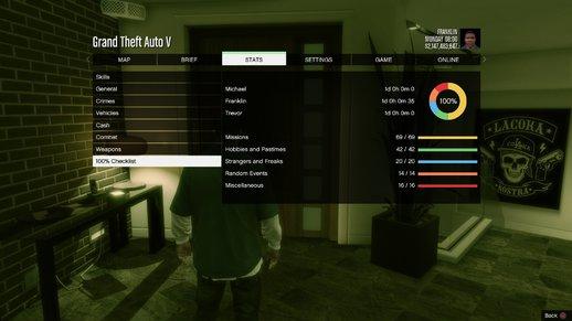 سیو 100% بازی GTA V