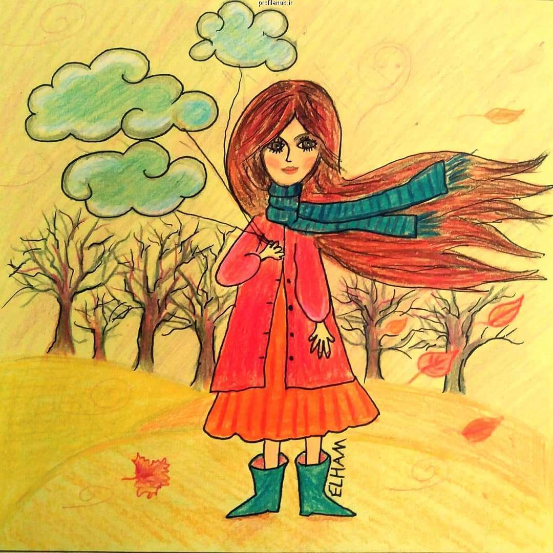 متن درباره دختر پاییزی
