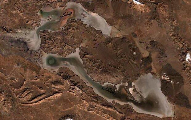 بررسی تغییر مساحت آبی تالاب های کشور با تصاویر ماهوارهای