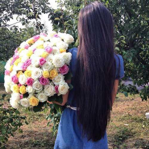 پروفایل دخترونه دست و گل