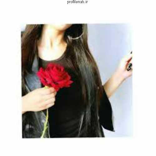 پروفایل دختر و گل نرگس