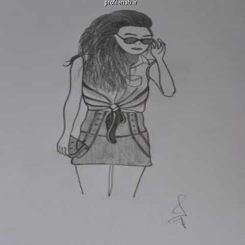 عکس پروفایل سیاه سفید دختر پسر