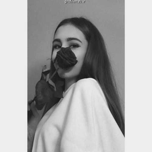 پروفایل دخترونه لاکچری سیاه و سفید