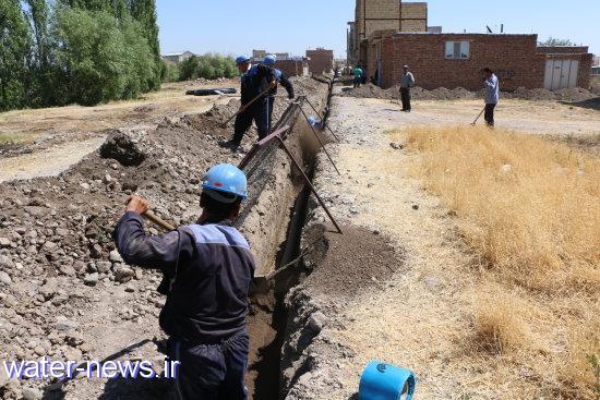 توسعه 850 متر از شبکه آبرسانی در مناطق شهری و روستائی شهرستان خوی