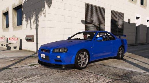 خودرو نیسان مدل Skyline GT-R V برای GTA V