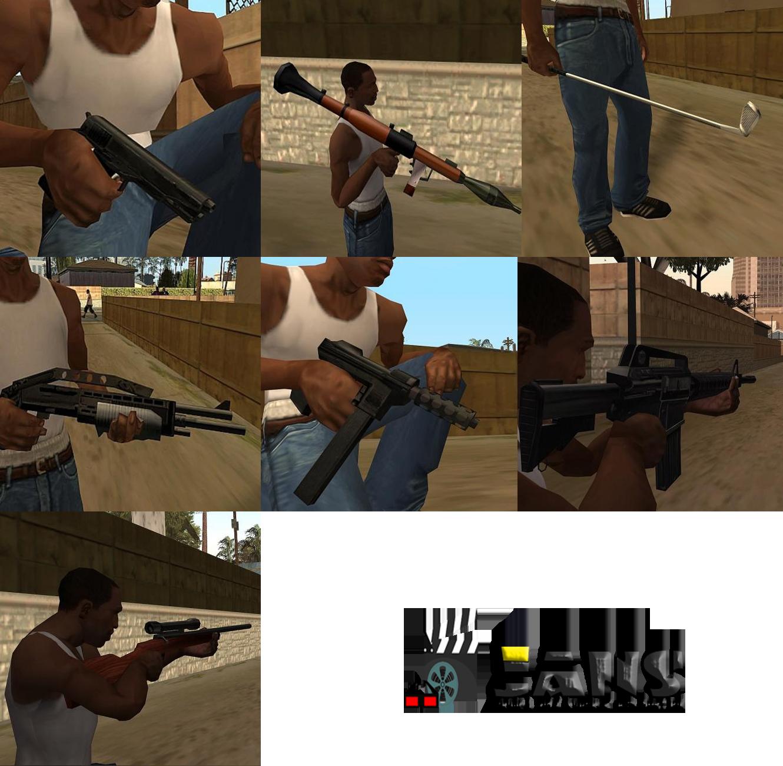 دانلود اسلحه های ریمسترد برای gta sa