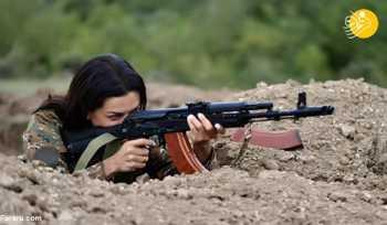 همسر نخست وزير ارمنستان به جبهه جنگ ميرود